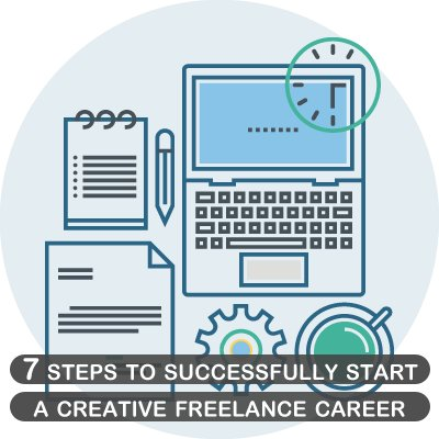 7 steps to successfully start a creative freelance career