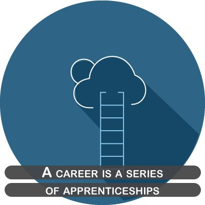 A career is a series of apprenticeships